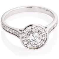 Brilliant Cut Diamond Cluster Engagement Ring