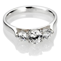 Brilliant Cut Trilogy Diamond Engagement Ring