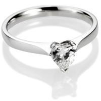 Heart Shape Diamond Solitaire Engagement Ring
