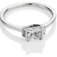 Princess Cut Diamond Trilogy Engagement Ring