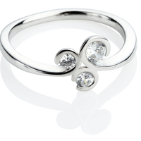 Brilliant Cut Diamond Engagement Cluster Ring