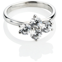 Brilliant Cut Diamond Cluster Ring