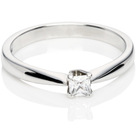 Princess Cut Diamond Solitaire Engagement Ring