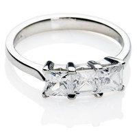Princess Trilogy Diamond Engagement Ring