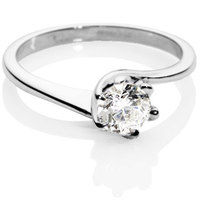 Brilliant Cut Diamond Solitaire Engagement Ring