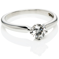 Brilliant Cut Solitaire Diamond Engagement Ring