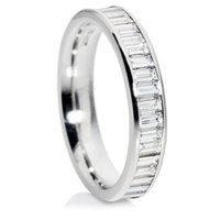 Baguette cut full eternity ring