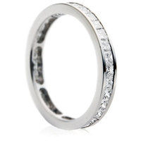Princess cut channel full eternity ring