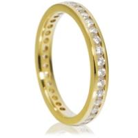 Brilliant cut channel full eternity ring