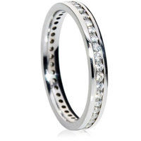 Brilliant cut channel full eternity ring