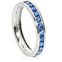 3mm Brilliant Cut Channel Full Eternity Ring