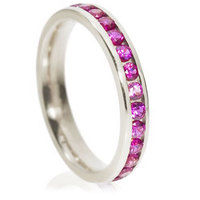 Brilliant cut eternity ring