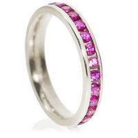 Brilliant cut eternity ring