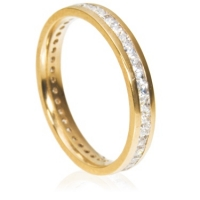 3mm Eternity Ring - Princess Cut