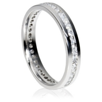 3.5mm Eternity Ring - Princess Cut