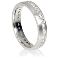 4mm Full Eternity Ring - Princess Cut