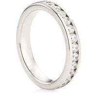 Channel Set Half Eternity Ring - 0.50ct