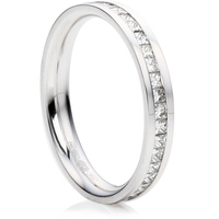 Princess Cut Half Eternity Ring