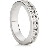 Brilliant Cut Half Eternity Ring (0.75ct)