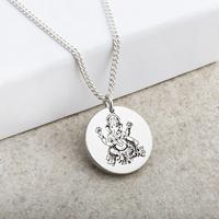 Ganesh Hindu God Laser Engraved Pendant