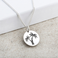 Palm Tree Designed Laser Engraved Pendant