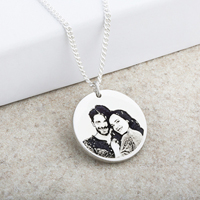 Portrait Laser Engraved Disc Pendant