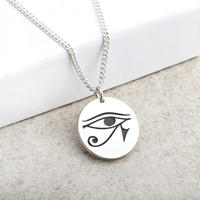Eye of Ra Laser Engraved Pendant
