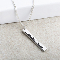 London Skyline Laser Engraved Pendant
