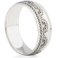 Ornate Laser Engraved Ring
