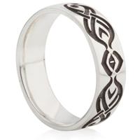 Celtic Swirl Laser Engraved Ring