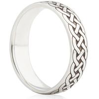 Celtic Weave Designed Laser Engraved Ring