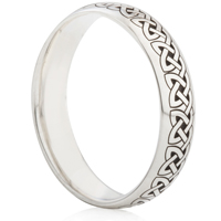 Celtic Knot Laser Engraved Ring