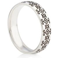 Bohemian Design Laser Engraved Ring