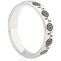 Sunflower Designed Laser Engraved Ring