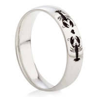 You Are My Lobster Laser Engraved Ring