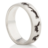 Squirrel Designed Laser Engraved Ring