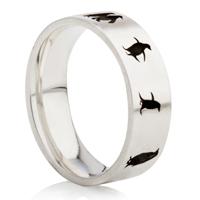 Penguin Designed Laser Engraved Ring