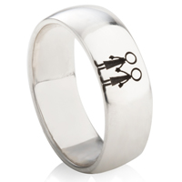 Commitment Ring in Sterling Silver - LGBT