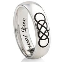Double Infinity Designed Laser Engraved Ring