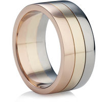 Tri-Colour Gold Wedding Ring