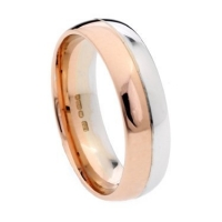 18ct Gold Two Colour Wedding Ring