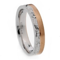 Rose and white gold two tone decorative ring