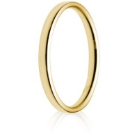 2mm Light Weight Gold Court Wedding Ring
