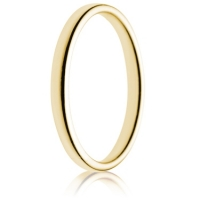 2mm Light Weight Gold Double Comfort Wedding Ring