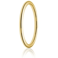 2mm Medium Weight Gold Court Wedding Ring