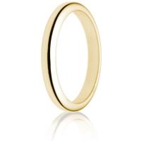 2.5mm Medium Weight Gold D-Shape Wedding Ring