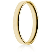3mm Light Weight Gold Court Wedding Ring