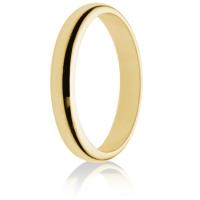 3mm Light Weight Gold D-Shape Wedding Ring