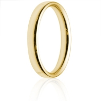 3mm Medium Weight Gold Court Wedding Ring