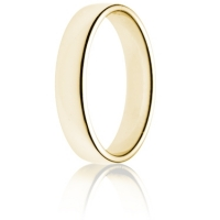 4mm Light Weight Gold Double Comfort Wedding Ring